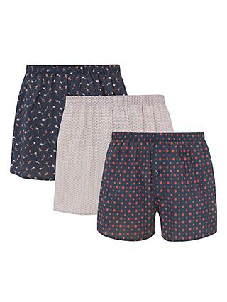 5db826a4062d John Lewis & Partners Koi Carp Cotton Boxers, Pack of 3, ...