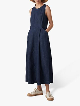 Toast Fitted Waist Denim Dress, Indigo