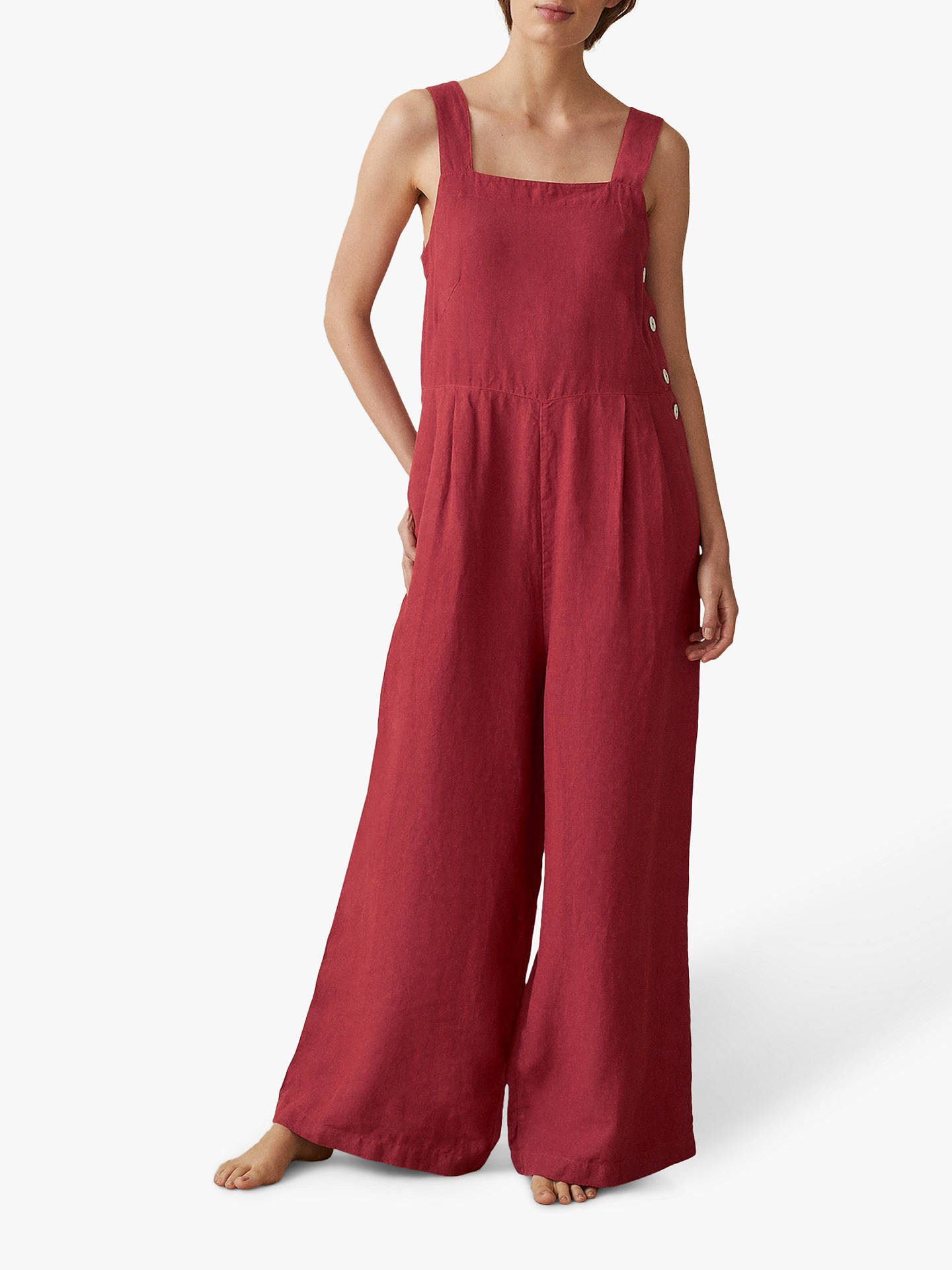 purchase original structural disablities fashionable and attractive package Toast Garment Dyed Linen Jumpsuit at John Lewis & Partners