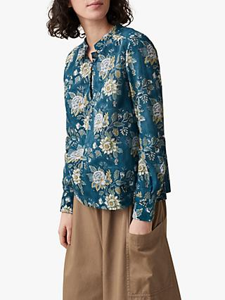 Toast Anokhi Cotton Voile Shirt, Teal