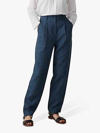 3b450f4dc5b Toast Stripe Linen Trousers