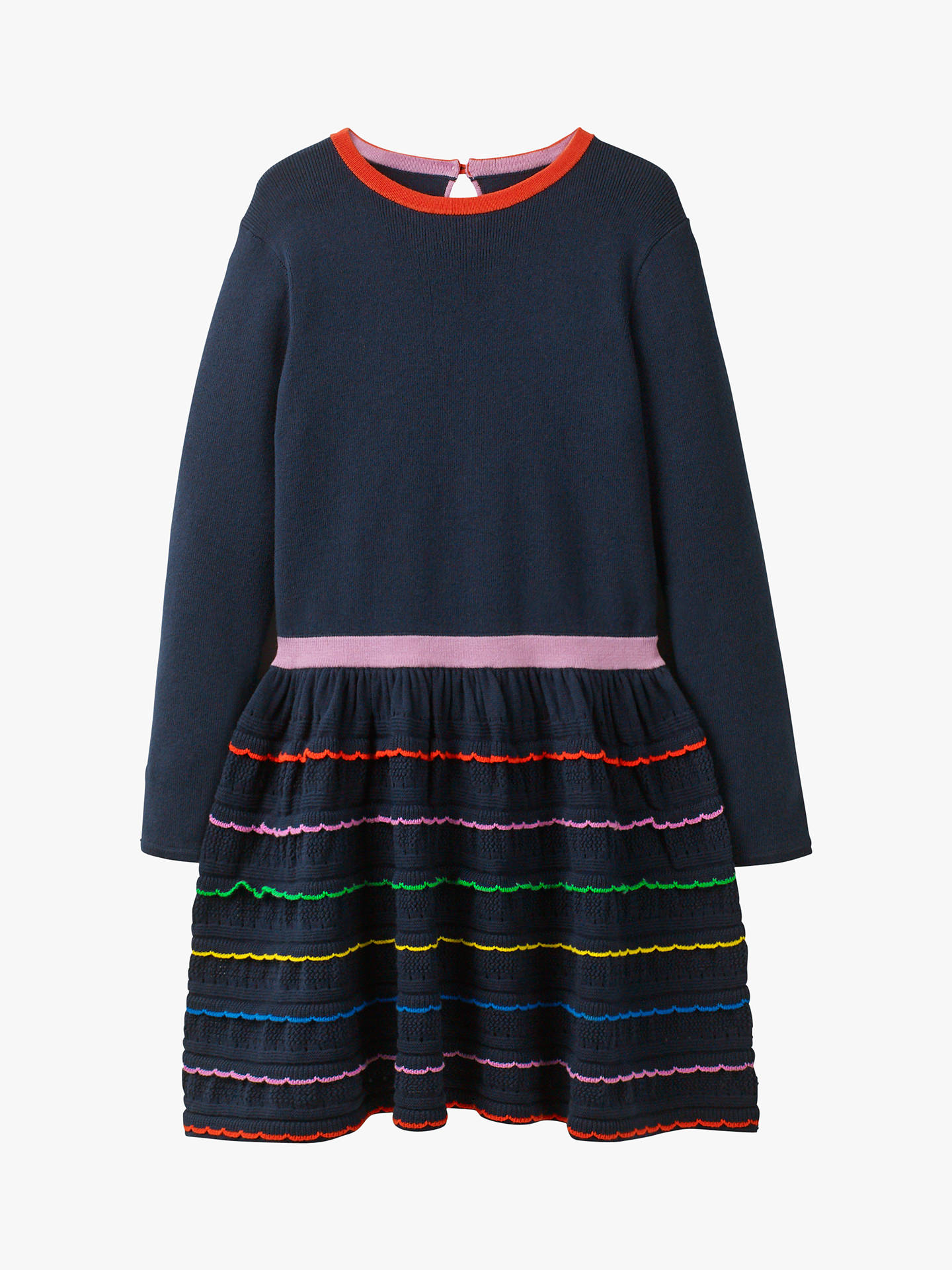 f18ef2f12 Mini Boden Girls  Rainbow Ruffle Knitted Dress
