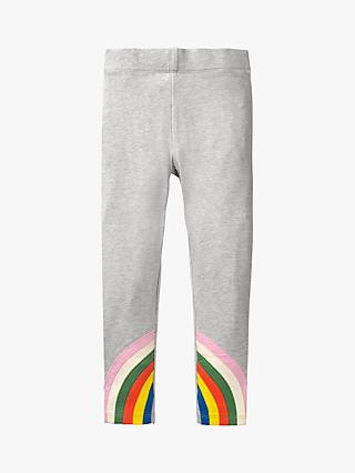 Mini Boden Girls' Rainbow Ankle Leggings, Grey