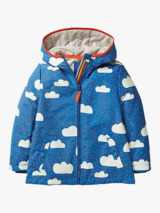 Mini Boden Girls' Jersey Lined Anorak, Blue