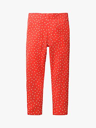 Mini Boden Girls' Polka Dot Leggings, Red