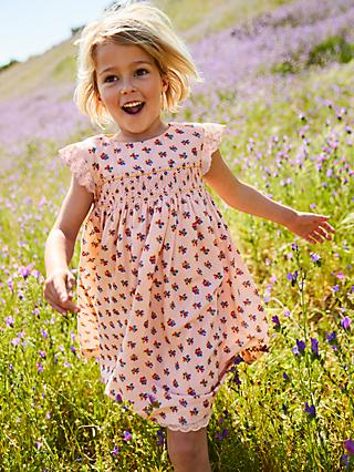 Mini Boden Girls' Nostalgic Dress, Pink