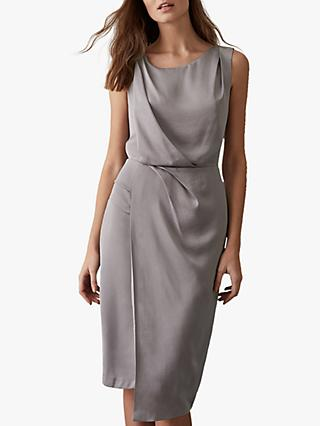 Reiss Karina Cross Back Dress, Steel Grey