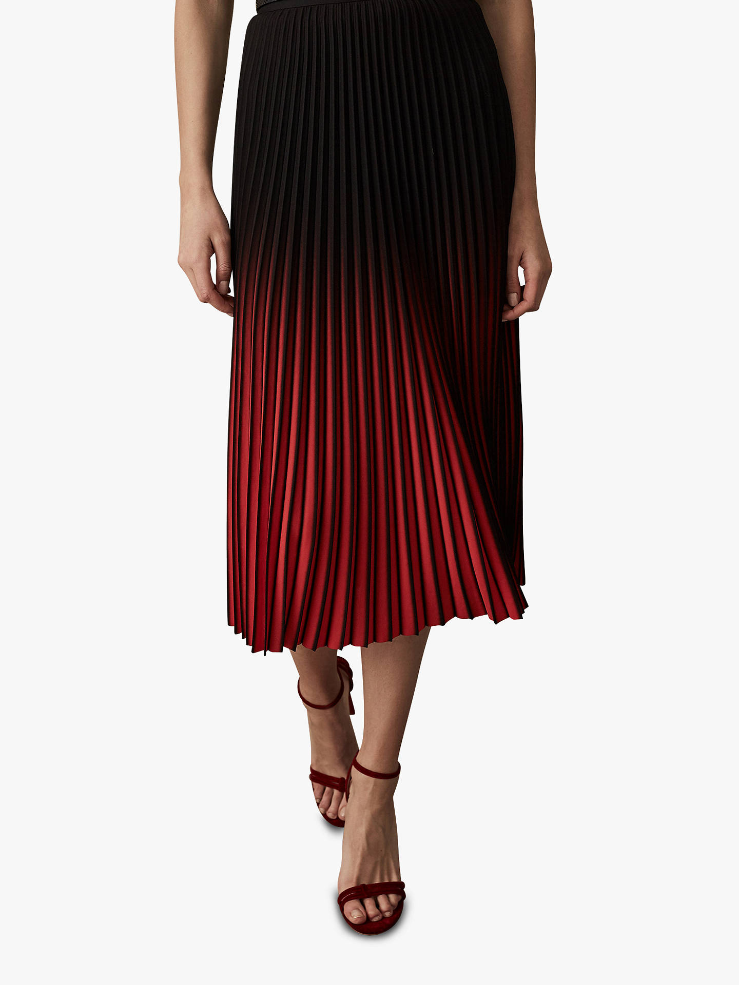11290eebf0c2 ... Buy Reiss Marlie Two Tone Pleat Midi Skirt