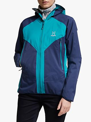 Haglöfs L.I.M Proof Multi Women's Waterproof Jacket, Tarn Blue/Alpine Green
