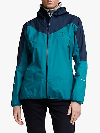 Haglöfs L.I.M Comp Women's Waterproof Jacket, Tarn Blue/Alpine Green