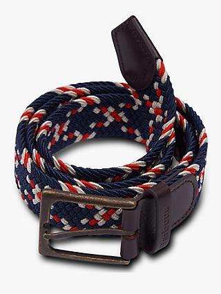 Barbour Ford Woven Belt, Blue/Multi
