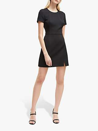 French Connection Dixie Shift Dress, Charcoal