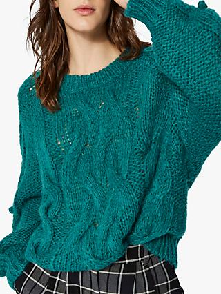 Selected Femme Ama Jumper, Teal Green