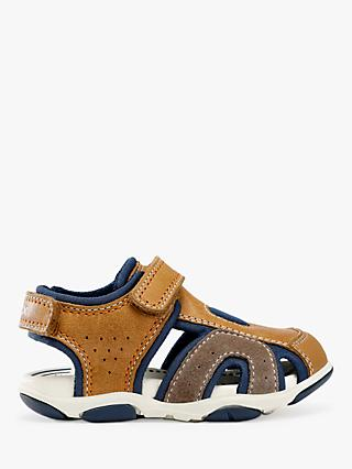 Geox Children's San Agasim Sandals, Caramel/Navy