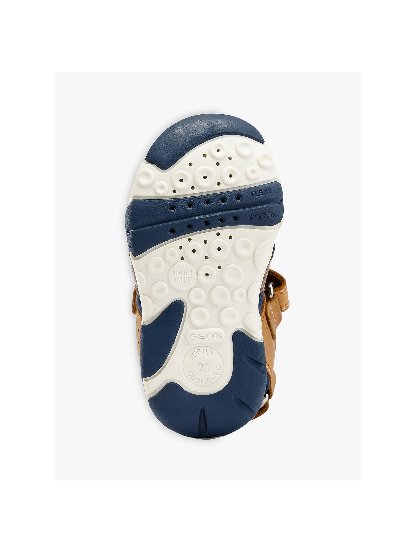 Sonderteil Einkaufen professionelles Design Geox Children's San Agasim Sandals, Caramel/Navy at John ...