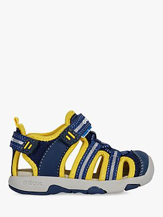 Geox Children's B Sand Sandals, Navy/Yellow