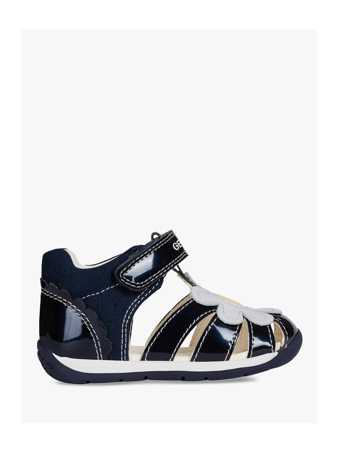 a05a629a4f39 Geox Children's Each G Riptape Sandals, Navy/White