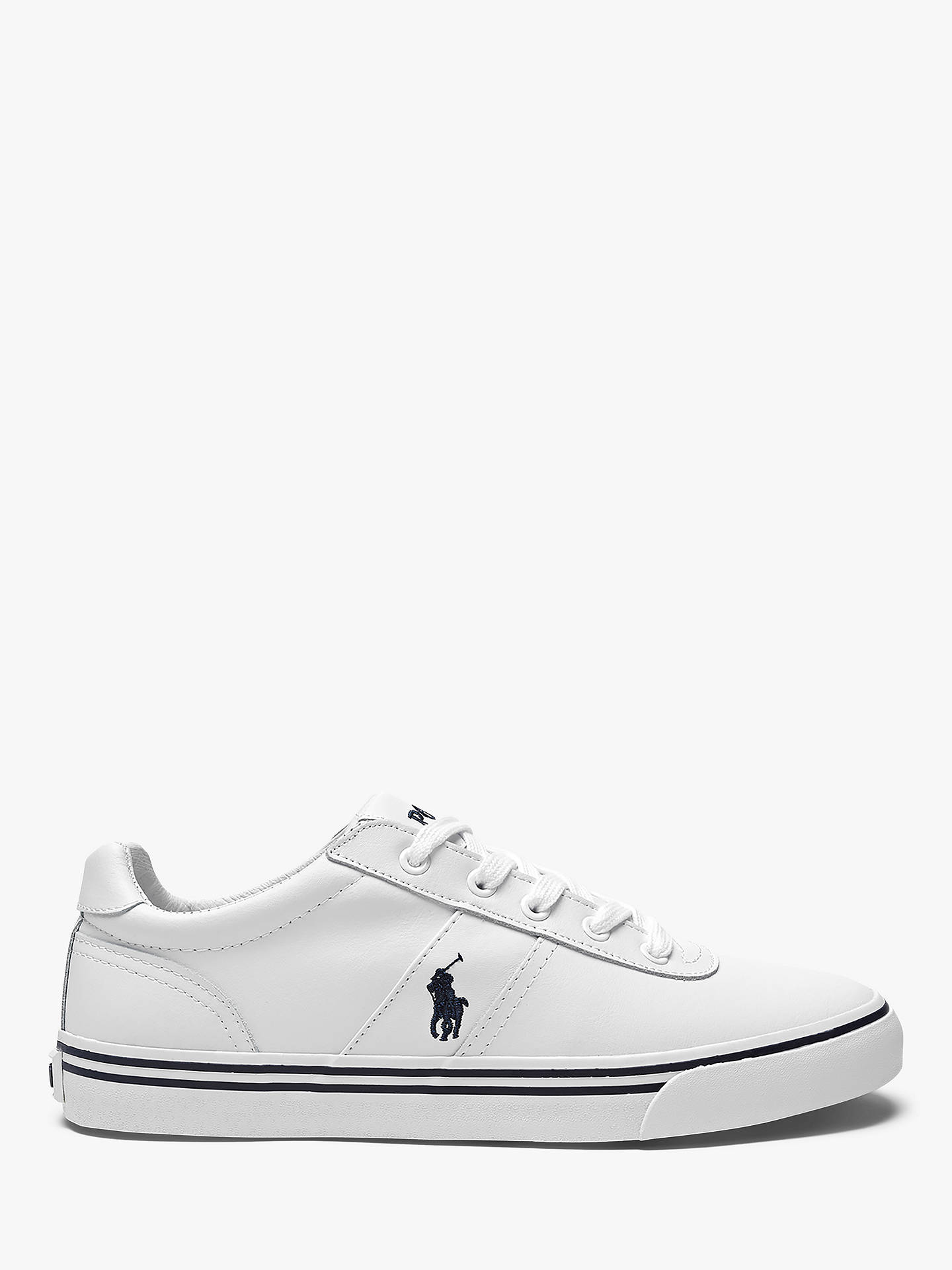 Lauren At Polo Lewis Ralph Hanford Leather TrainersWhite John W9eEDYbIH2