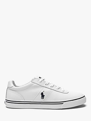 Polo Ralph Lauren Hanford Leather Trainers, White