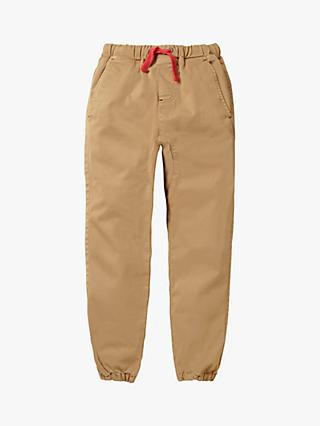 Mini Boden Boys' Slouch Trousers, Chino Brown