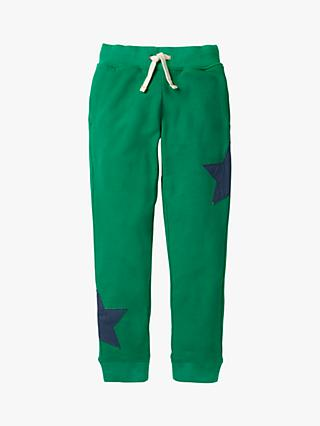 Mini Boden Boys' Star Applique Joggers, Watercress Green