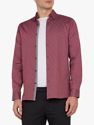 Ted Baker Subik Geo Print Slim Fit Shirt