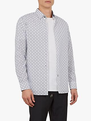 Ted Baker Long Sleeve Wiggle Shirt, White