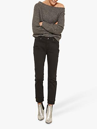 Mint Velvet Houston Jeans, Dark Grey