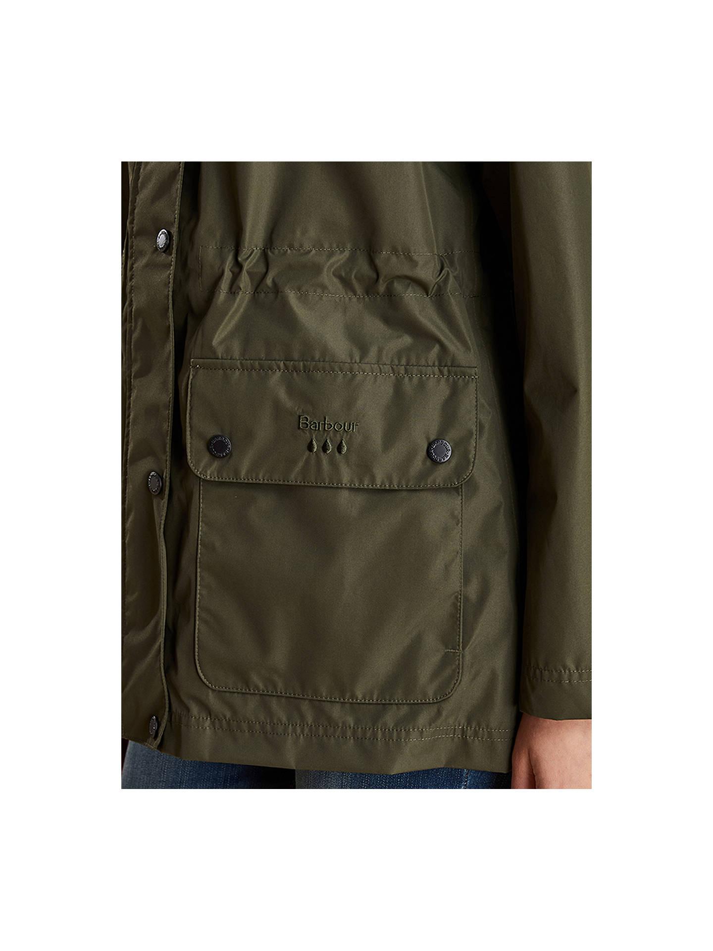963467da563b3 ... Buy Barbour Drizzle Waterproof Jacket, Olive, 8 Online at johnlewis.com  ...