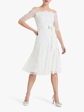 Phase Eight Evette Lace Wedding Dress, Pale Cream