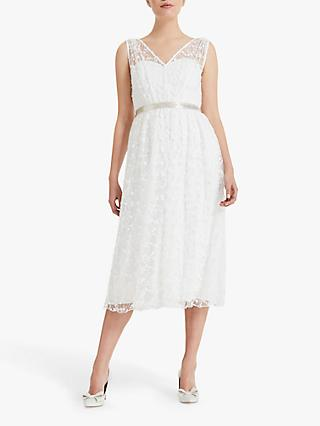 Phase Eight Amalia Embroidered Wedding Dress, Ivory