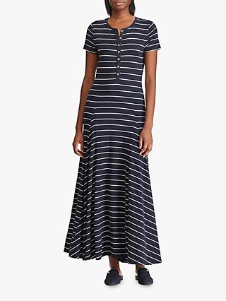 d0227999aa3 Lauren Ralph Lauren Wolford Stripe Long Jersey Dress