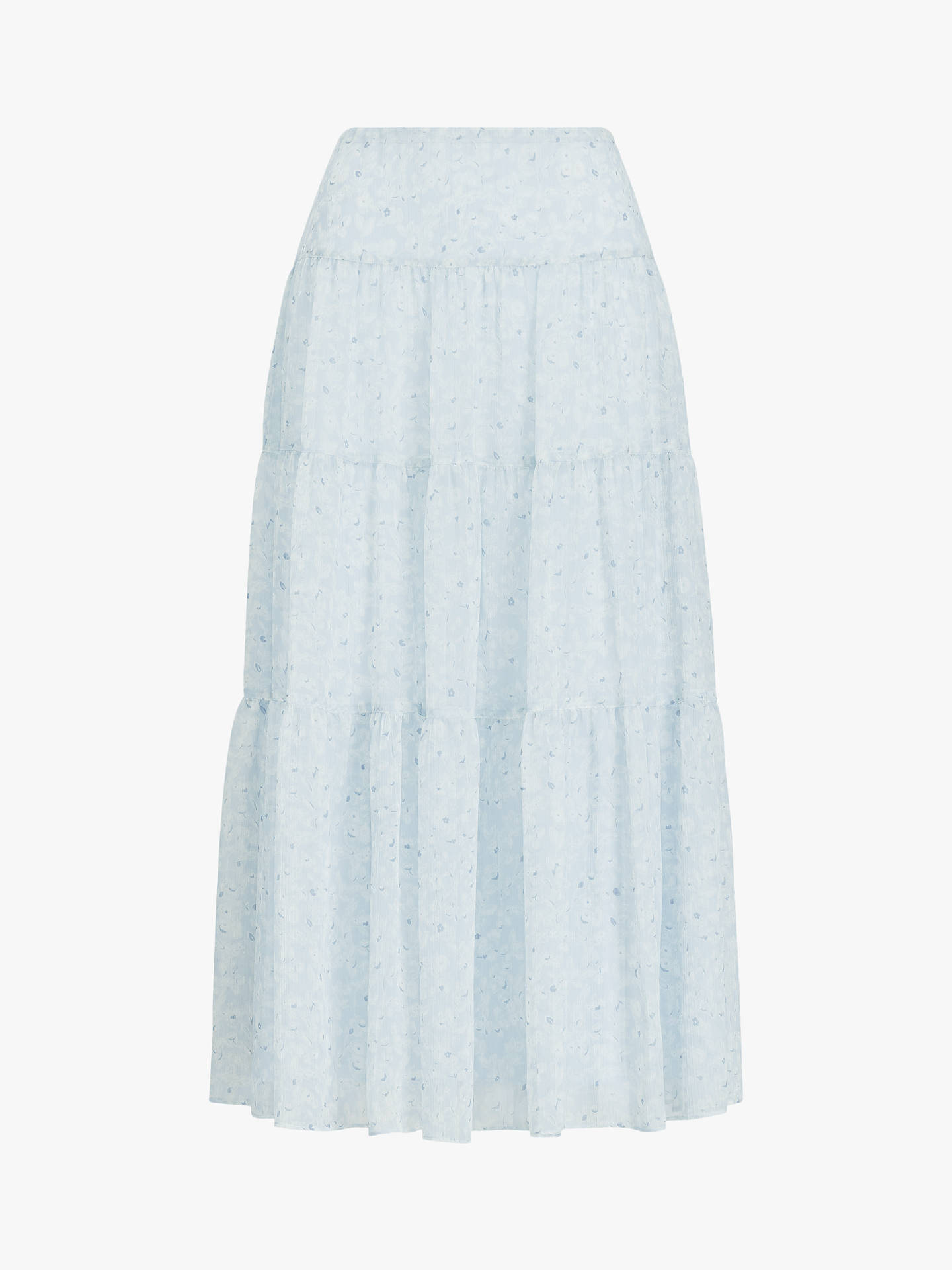 dd7ada0705 Buy Ralph Lauren Floral Georgette Peasant Skirt, English Blue, 8 Online at  johnlewis.