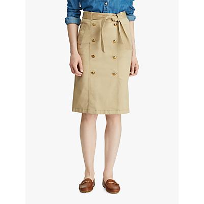 Ralph Lauren Belted Skirt, Spring Khaki