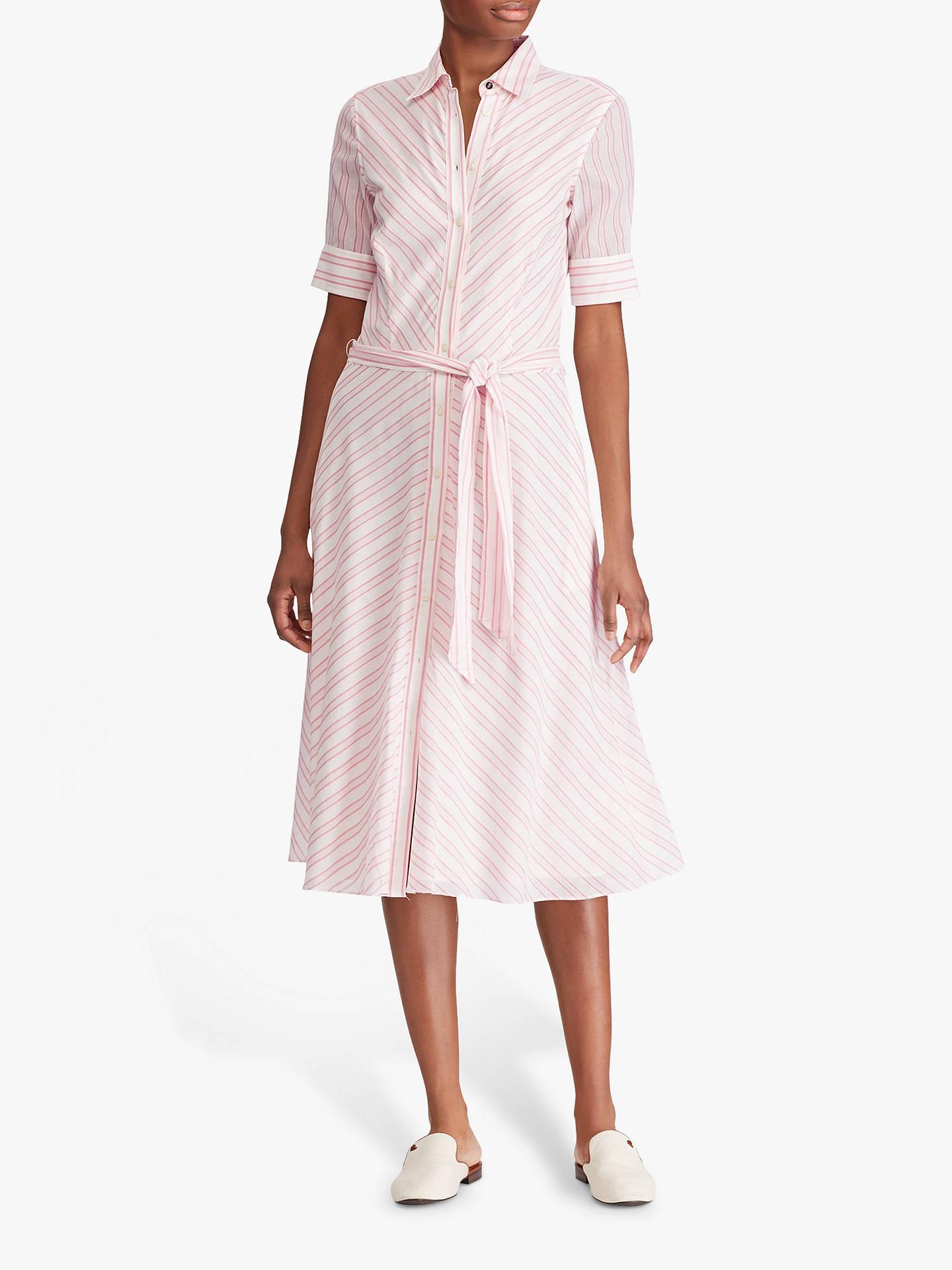 65f6f95bea46 Buy Lauren Ralph Lauren Stripe Belted Shirt Dress