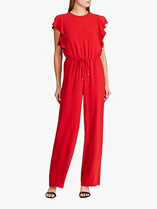 Ralph Lauren Ruffle Trim Jumpsuit, Lipstick Red