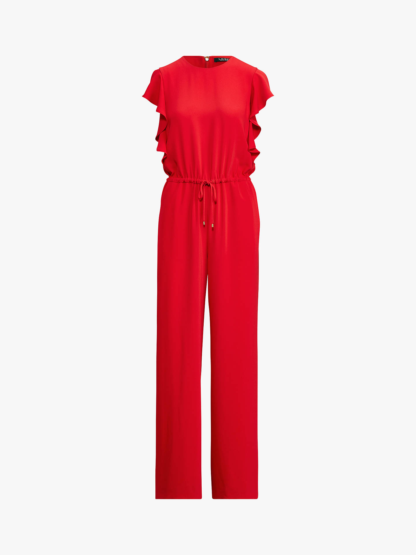 Buy Ralph Lauren Ruffle Trim Jumpsuit, Lipstick Red, 6 Online at johnlewis.com