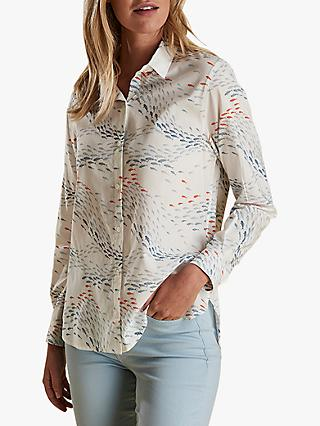 Barbour Pebble Print Shirt, Off White