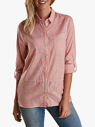 Barbour Seaward Stripe Shirt, Marigold