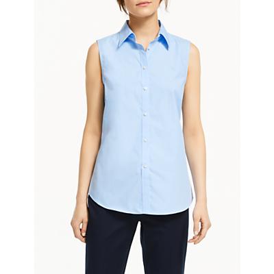 Lauren Ralph Lauren Akuna Sleeveless Shirt, Light Blue