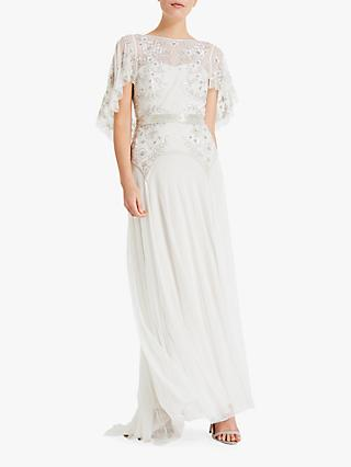 Phase Eight Louise Embellished Bridal Dress, Champagne