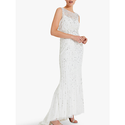 Phase Eight Milly Embellished Bridal Dress, Snow