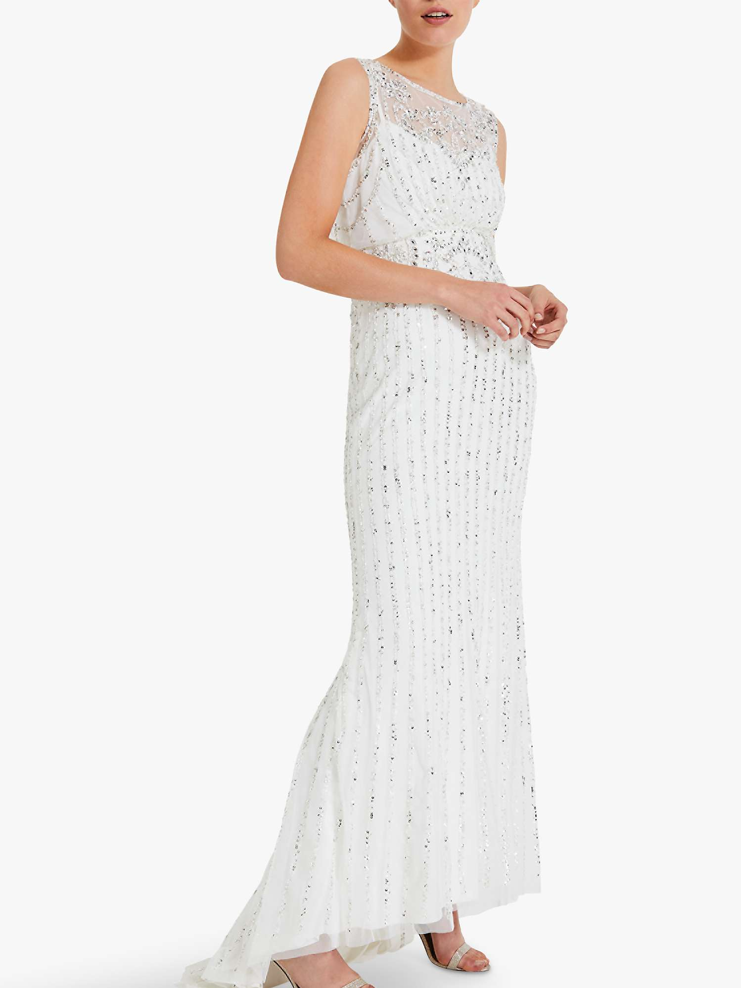 dirt cheap hot product best selling Phase Eight Milly Embellished Bridal Dress, Snow