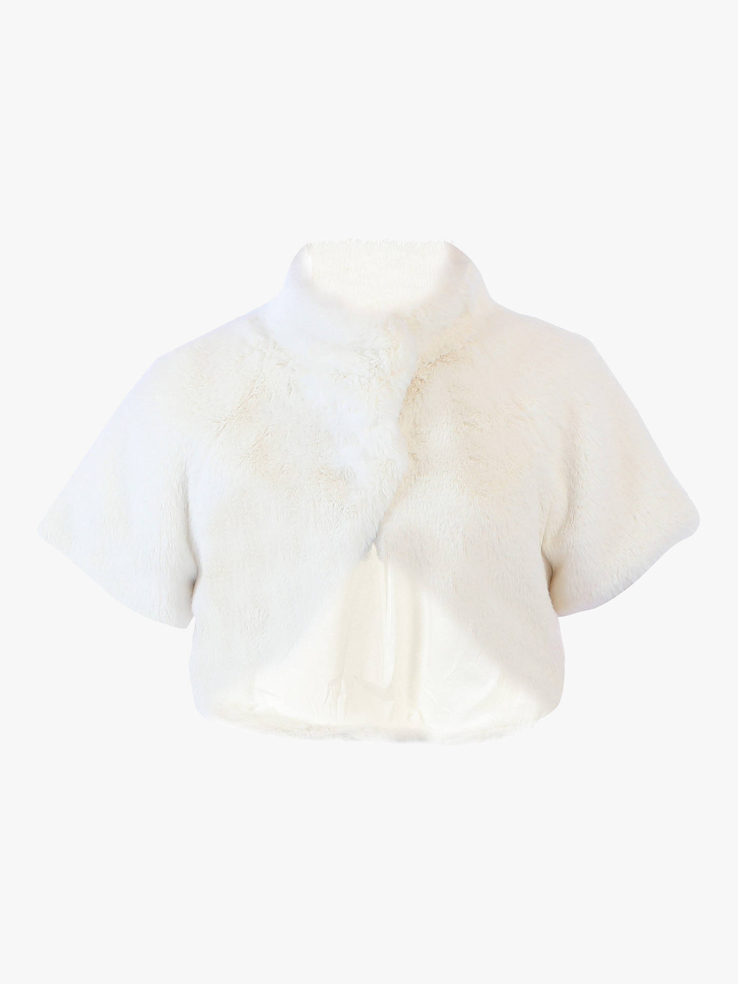 Buy Jolie Moi Faux Fur Bolero, Ivory, 16 Online at johnlewis.com
