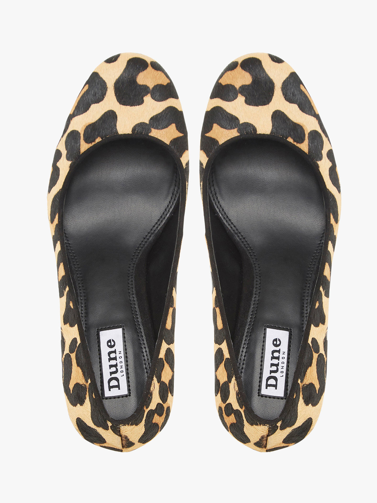 BuyDune Bellowes Amalei Pony Leopard Print Court Shoes, Brown, 3 Online at johnlewis.com