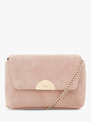 Dune Billiee Suede Clutch Bag, Cappuccino
