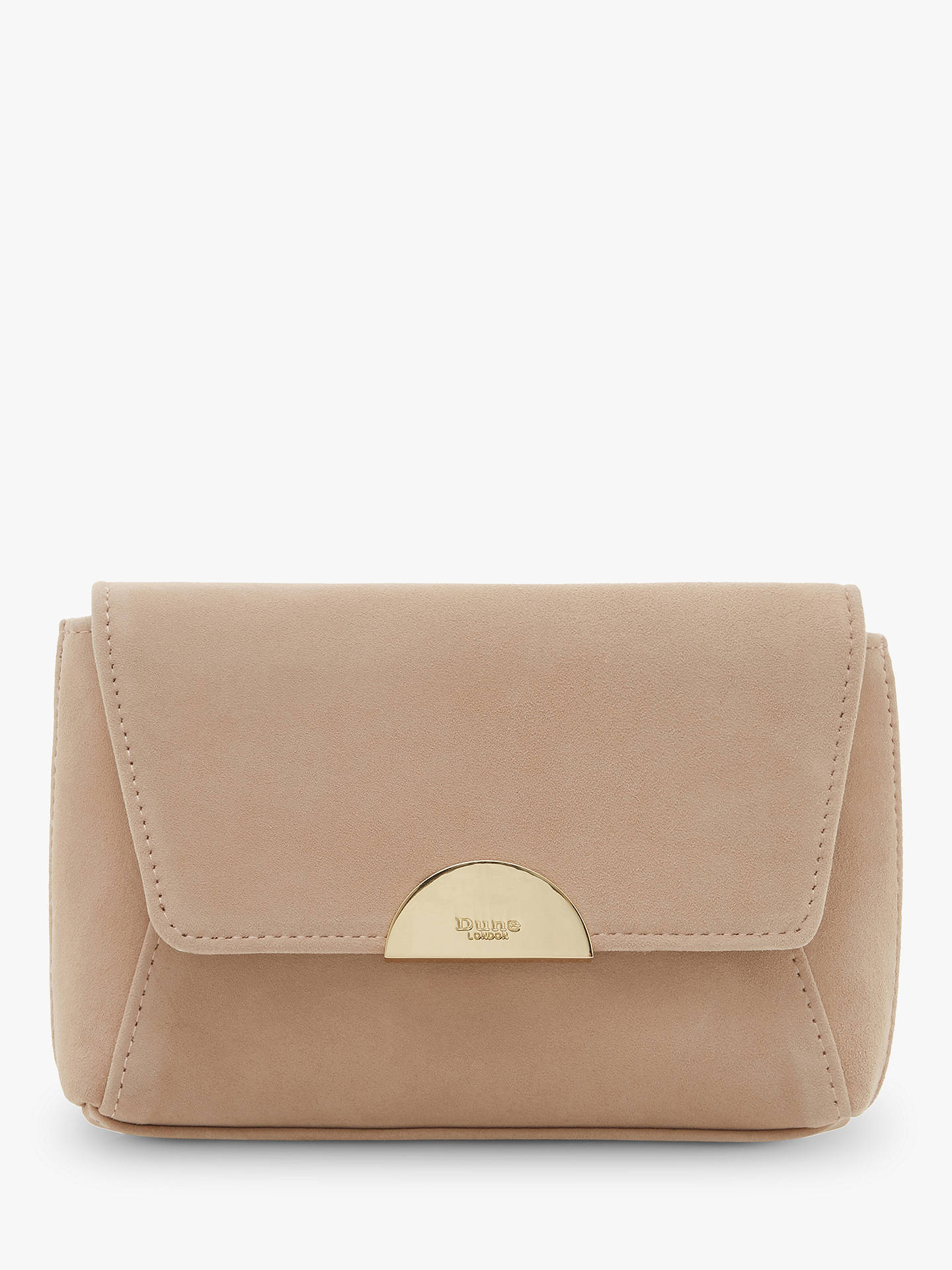 Buy Dune Billiee Suede Clutch Bag, Cappuccino Online at johnlewis.com
