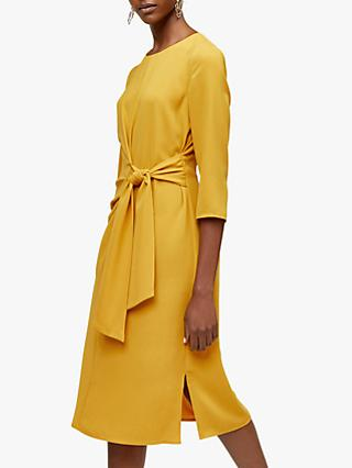 Warehouse Twist Knot Dress, Mustard