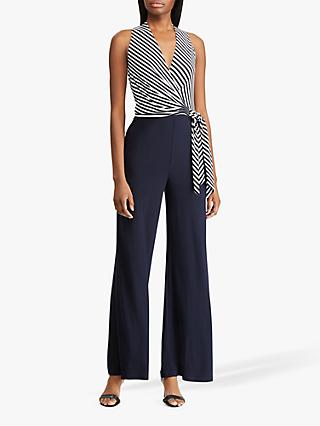 Lauren Ralph Lauren Ritanna Jumpsuit, Lighthouse Navy/Cream