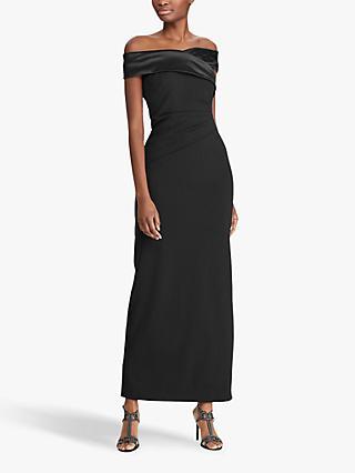 705185c0a Lauren Ralph Lauren Crepe Off Shoulder Maxi Dress, Black